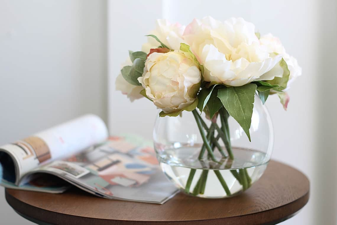 How To Use Stylish Faux Flowers At Home Peonies