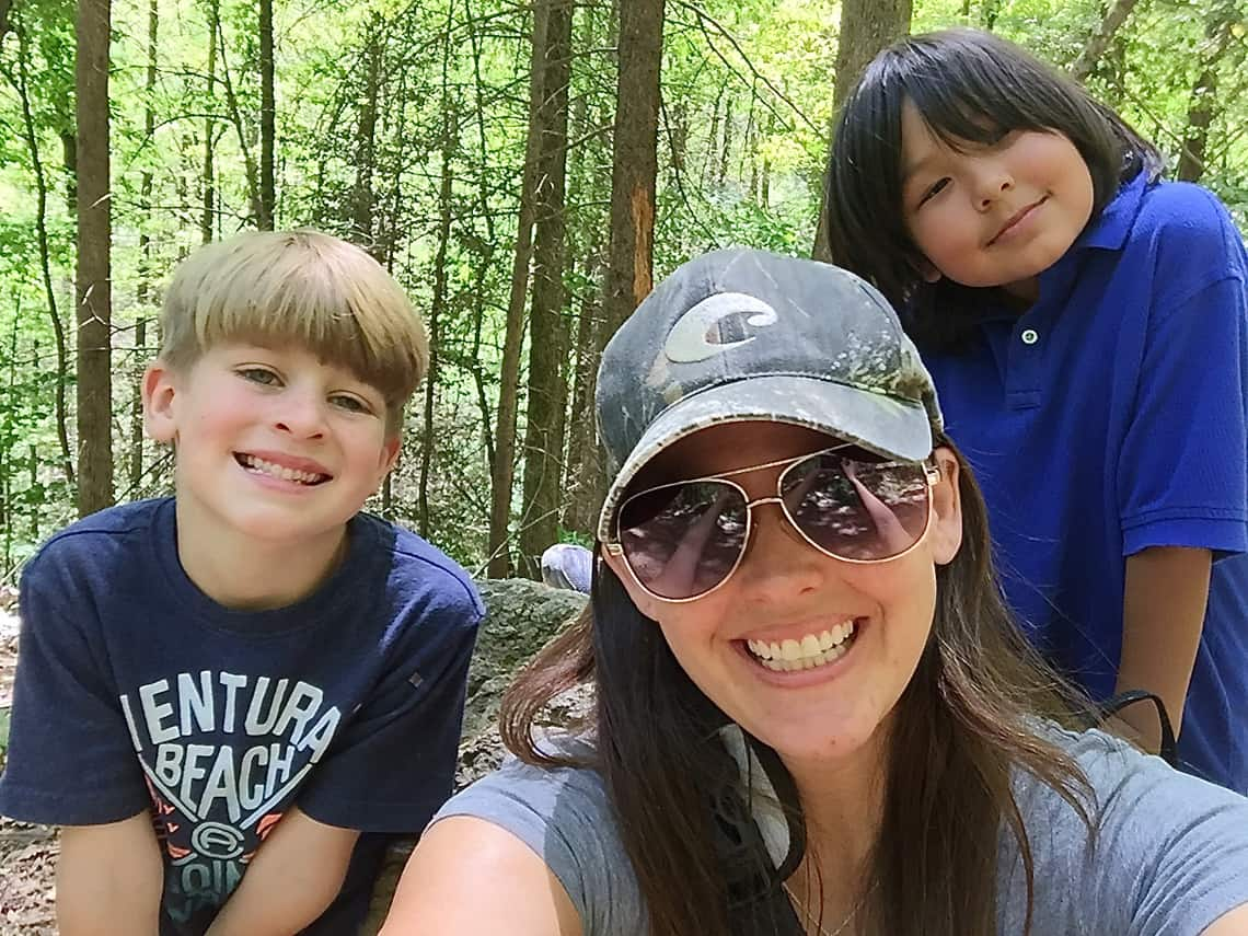 Camping With Kids At South Mountain State Park Selfie