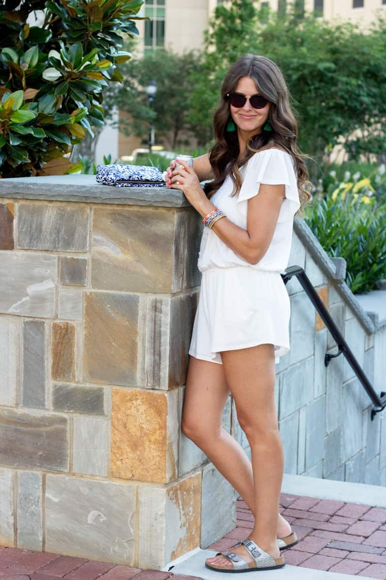 4th of July Style: White Romper and Birks