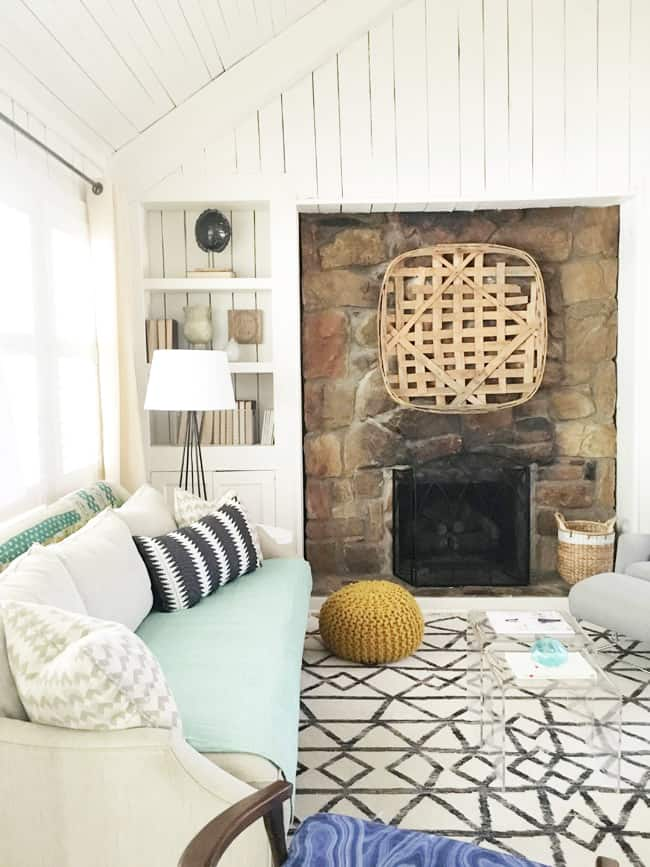 HOM: Cozy Home of Eileen from A Creative Day Blog fireplace