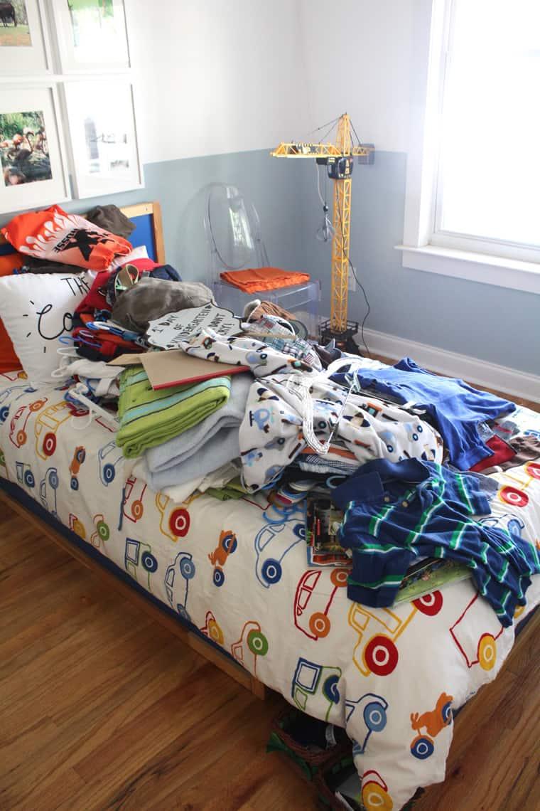 My Son's New Closet Organizing System organize