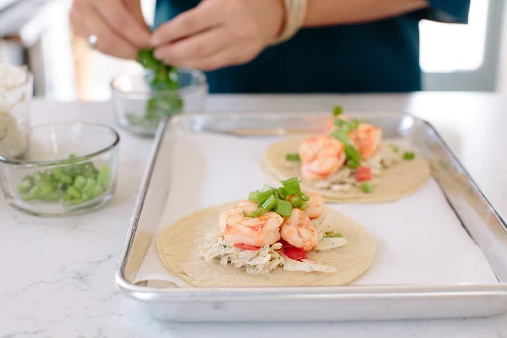 Himalayan-Salt-Shrimp-Tacos-Tequila-Shooters-food