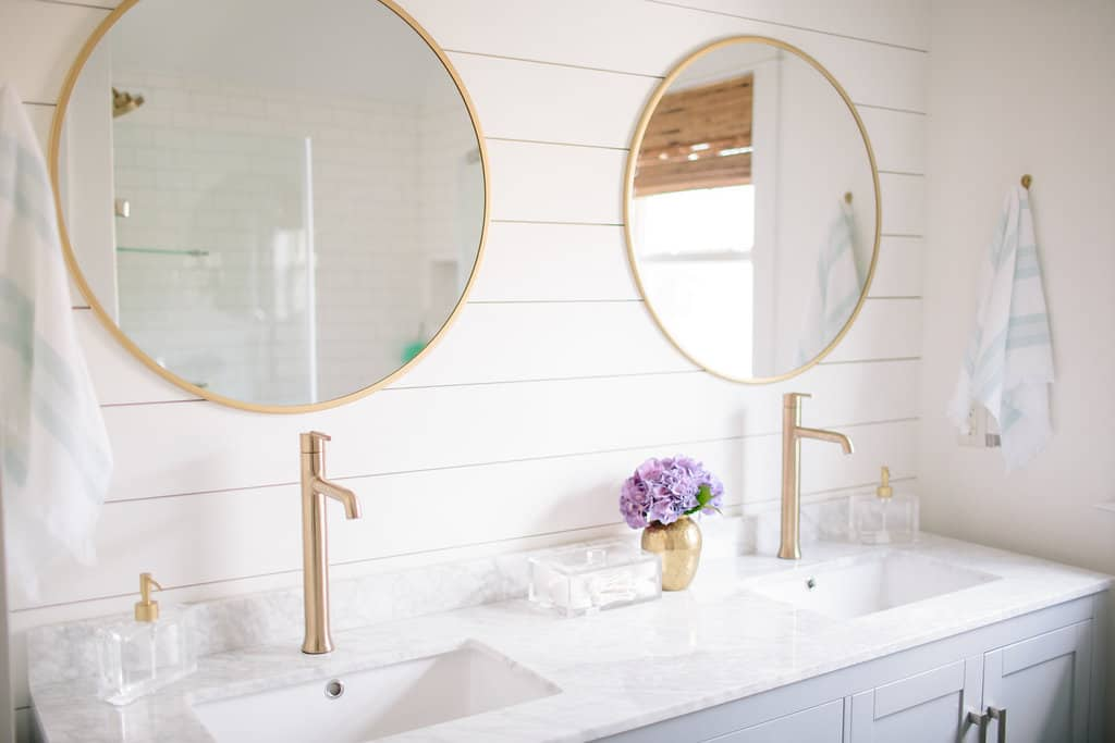 Master Bathroom Renovation: DIY Shiplap Wall Tutorial