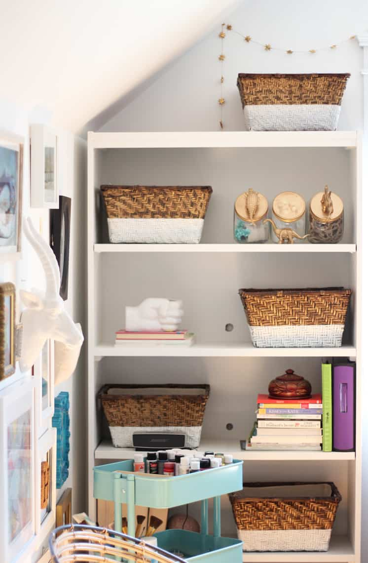 Our (Real Life) Summer Home Tour shelves
