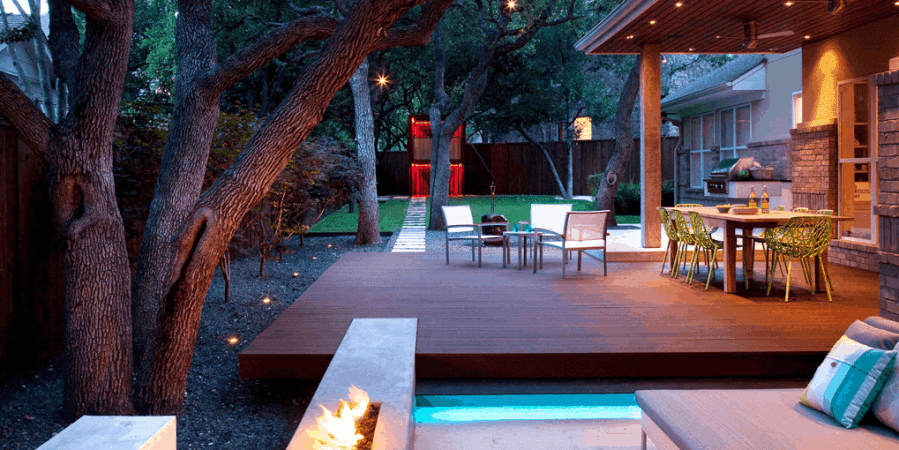 Outdoor Design Dreaming….Patios, Fire Pits + Hot Tubs Oh My!