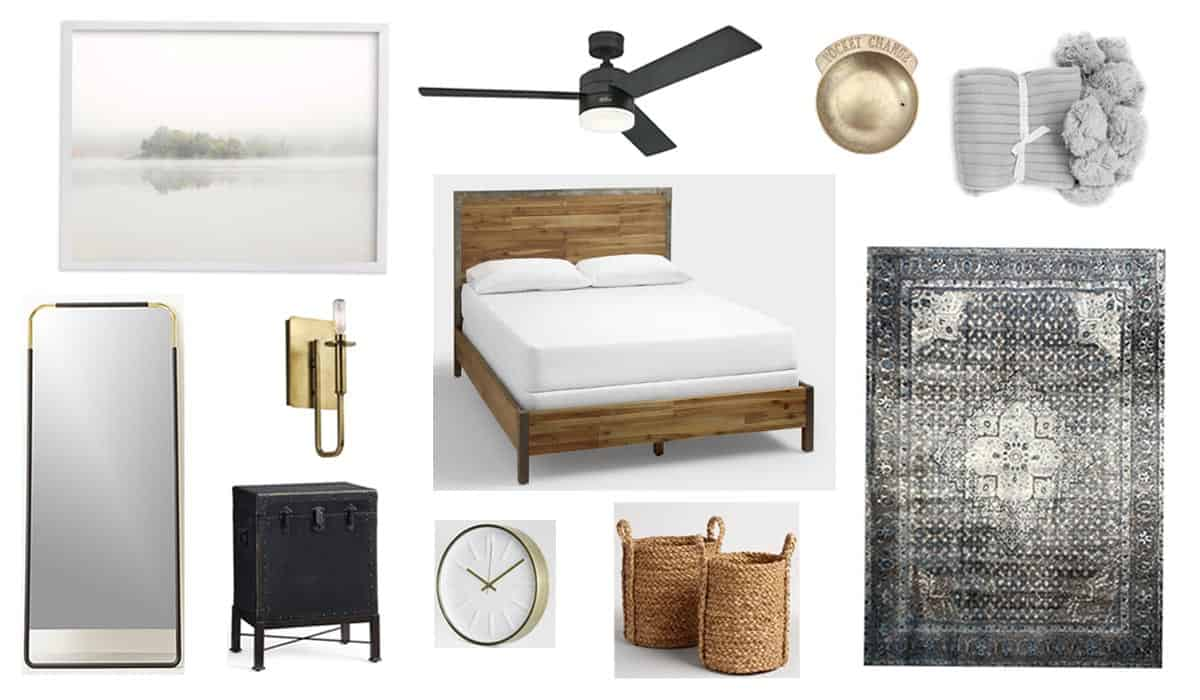A Modern + Neutral Masculine Bedroom Design