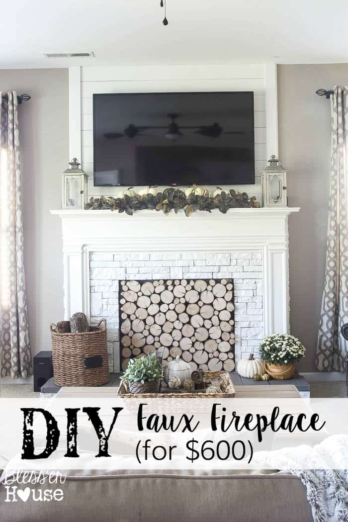 To Paint Or Not To Paint? Stone Tile Fireplace + More faux