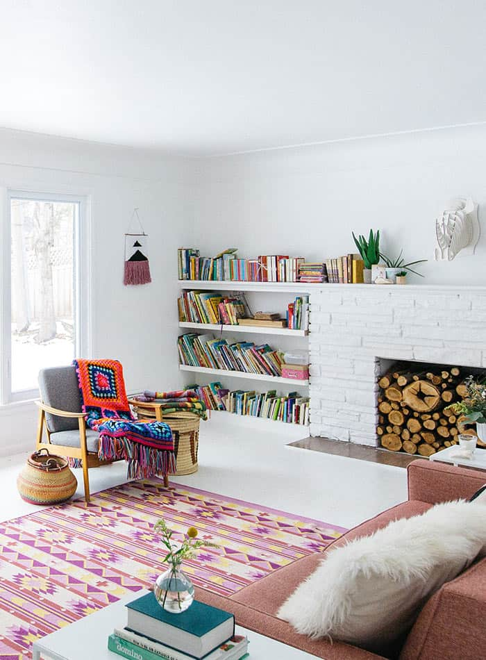 To Paint Or Not To Paint? Stone Tile Fireplace + More white