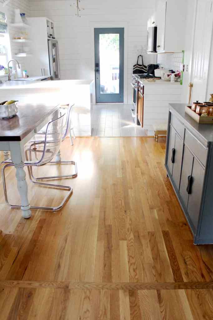 Before + After: New & Refinished Hardwood Floors after kitchen