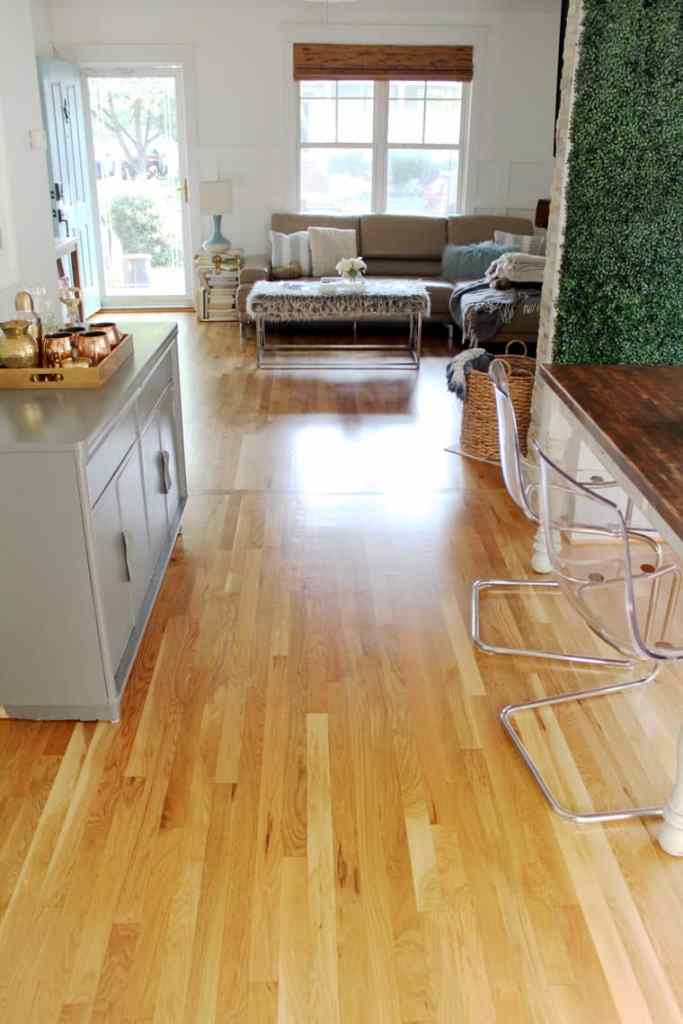 Before + After: New & Refinished Hardwood Floors after dining