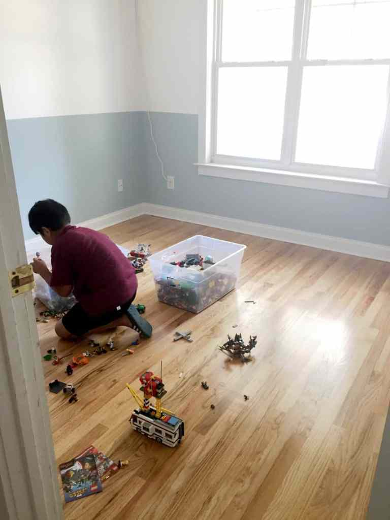 Before + After: New & Refinished Hardwood Floors after playroom