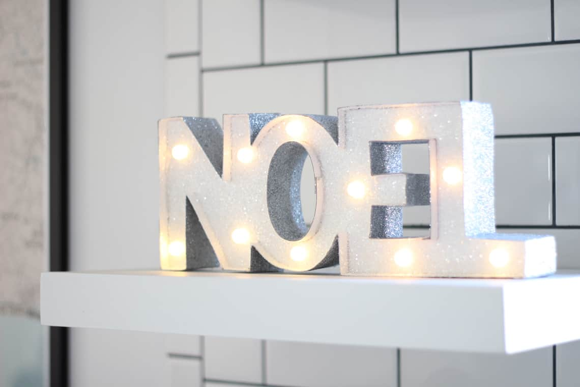 A Gold + Silver Christmas of Lights with At Home noel