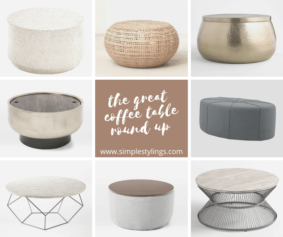 The Great (round) Coffee Table Round Up