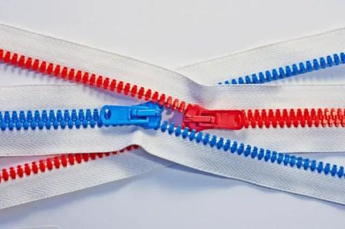 zippers closing