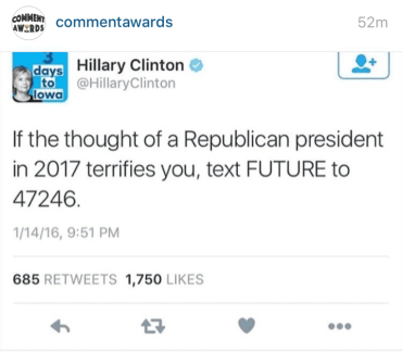 Text messaging in the 2016 presidential election campaign