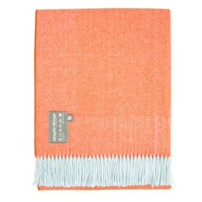 Herringbone Duckegg / Orange