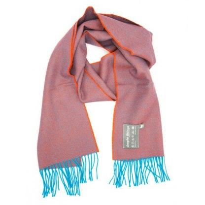 Diamond teal orange scarf