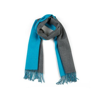 Double-Face Cyan Grey Scarf