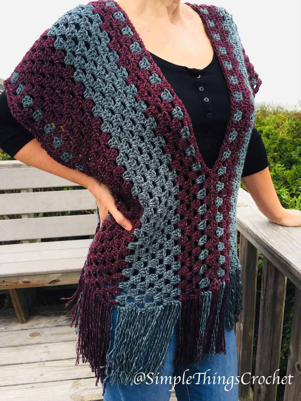Misty Morning Poncho Top Simple Things Crochet