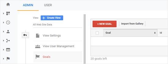Nouvel objectif de Google Analytics