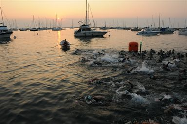 Chicago Triathlon Swim Start