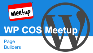 Colorado Springs WordPress Meetup Page Builders
