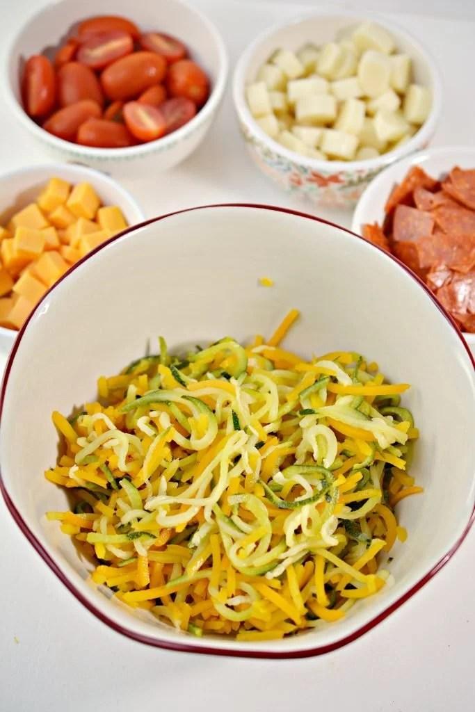 low carb / keto pasta salad ingredients