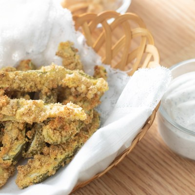 Low Carb Fried Pickles