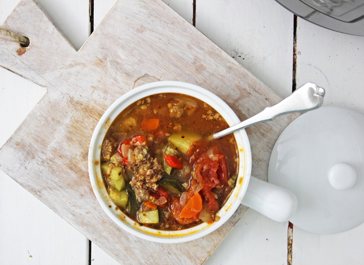 Italian Vegetable Soup Keto and Low Carb Instant Pot Recipe