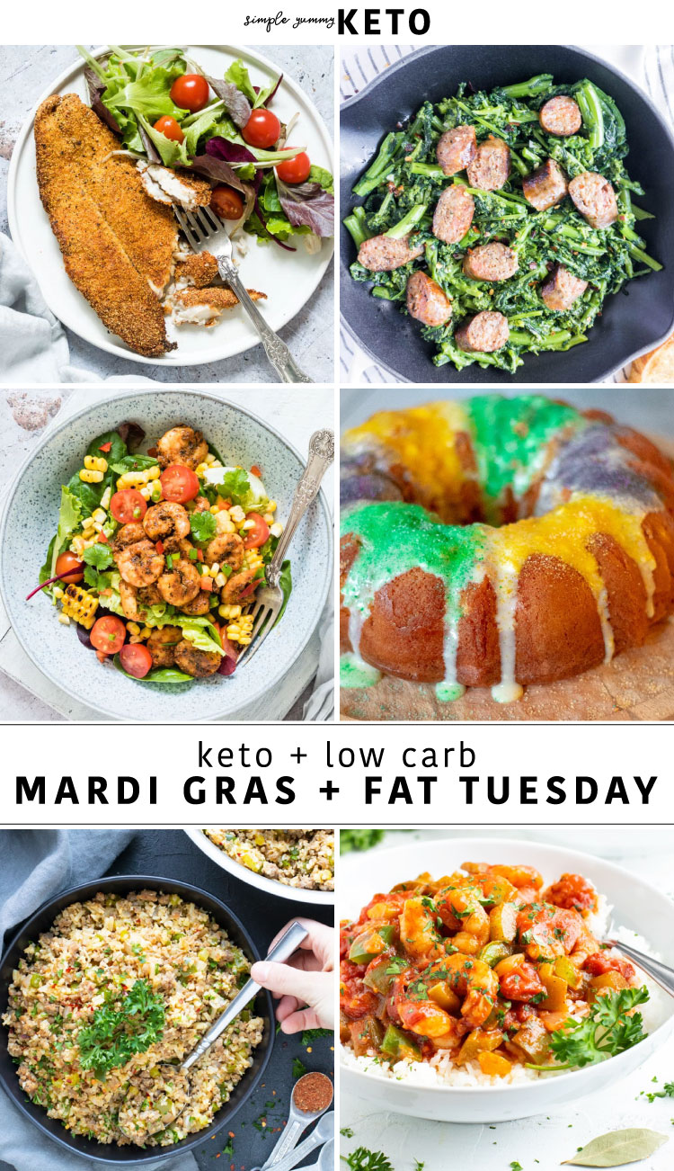 Mardi Gras and Fat Tuesday Keto Inspired Recipes