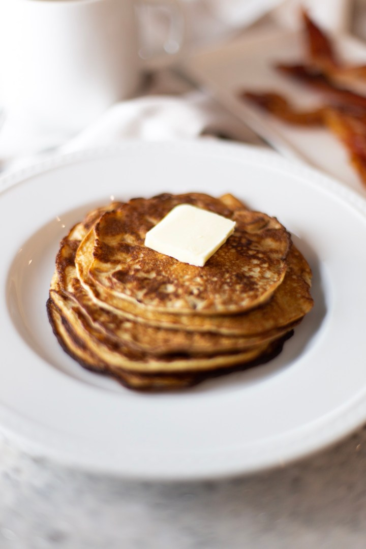 keto low carb easy cream cheese pancake recipe