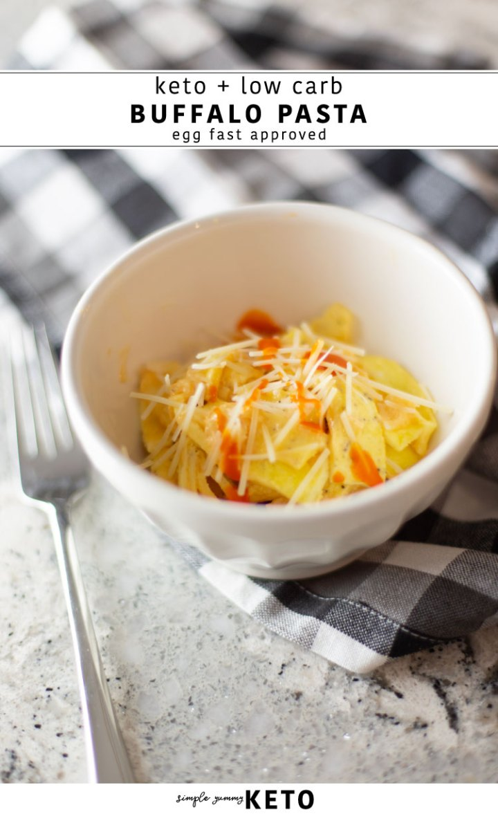 keto buffalo pasta recipe that is egg fast approved