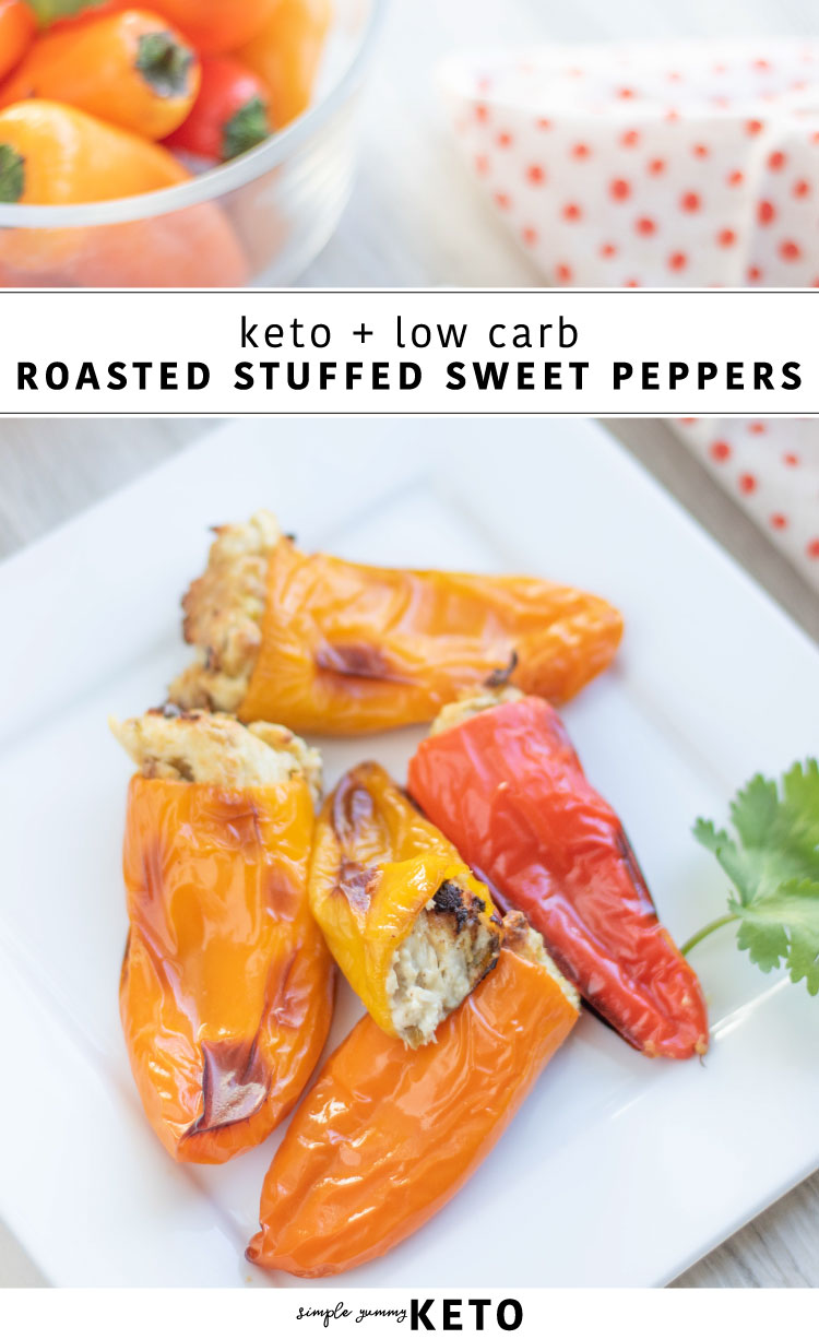 keto and low carb stuffed peppers recipe