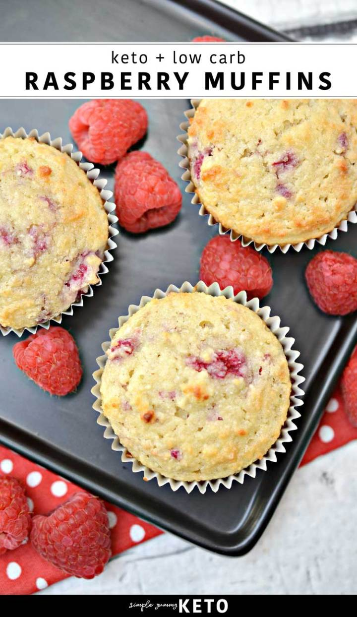 low carb and keto friendly raspberry muffin recipe