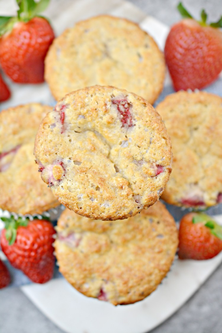 Keto and low carb strawberry muffins