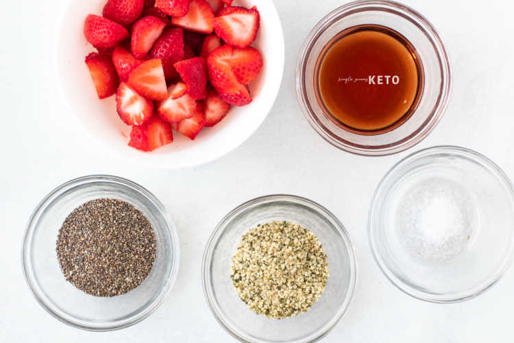 ingredients for keto jam