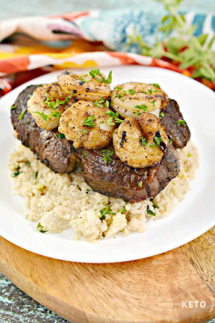 lchf surf and turf with risotto recipe