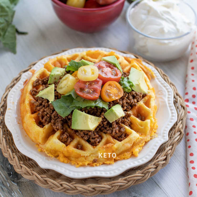 keto and low carb fry bread taco chaffle