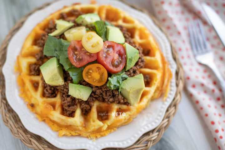 fry bread taco chaffle a keto and low carb recipe