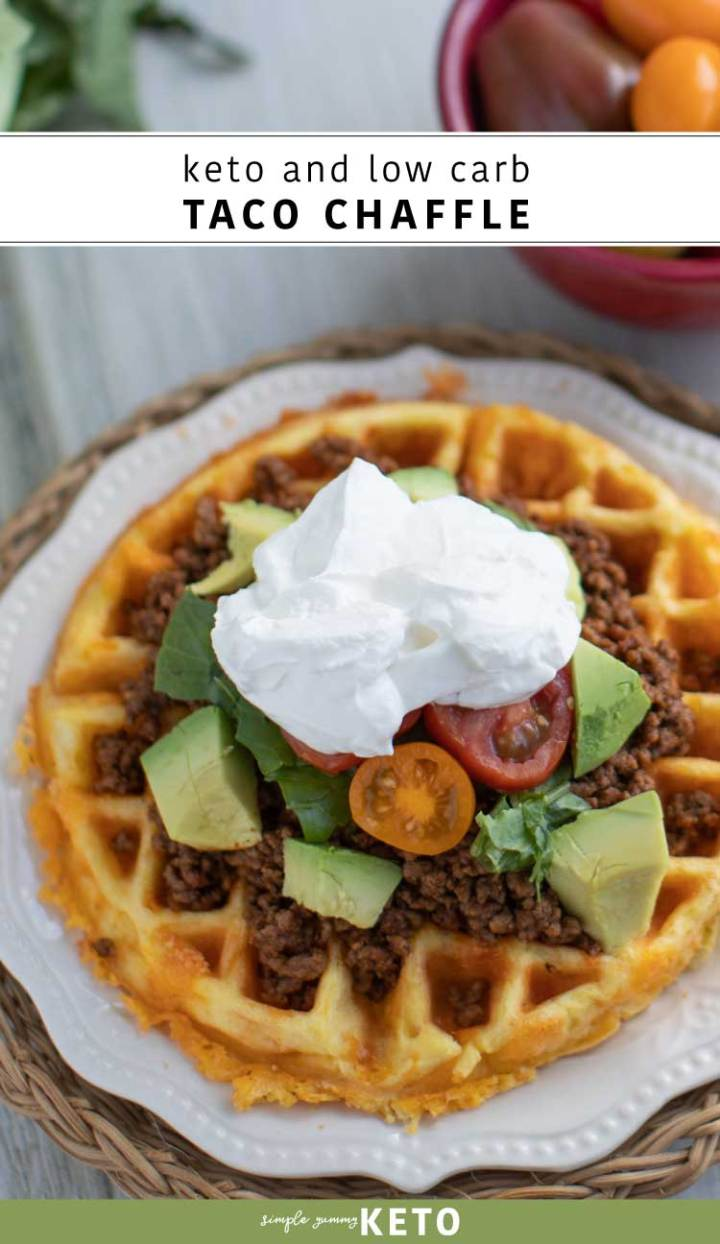 keto and low carb taco chaffle recipe