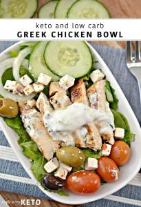 greek chicken keto and low carb bowls
