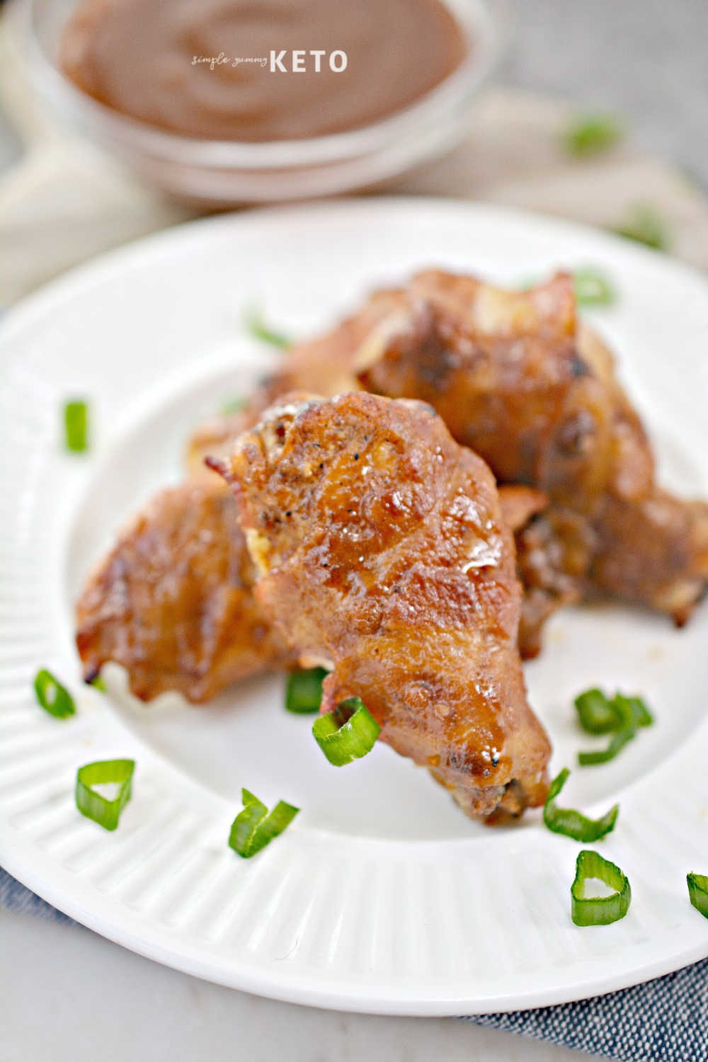 keto bacon wrapped bbq wings