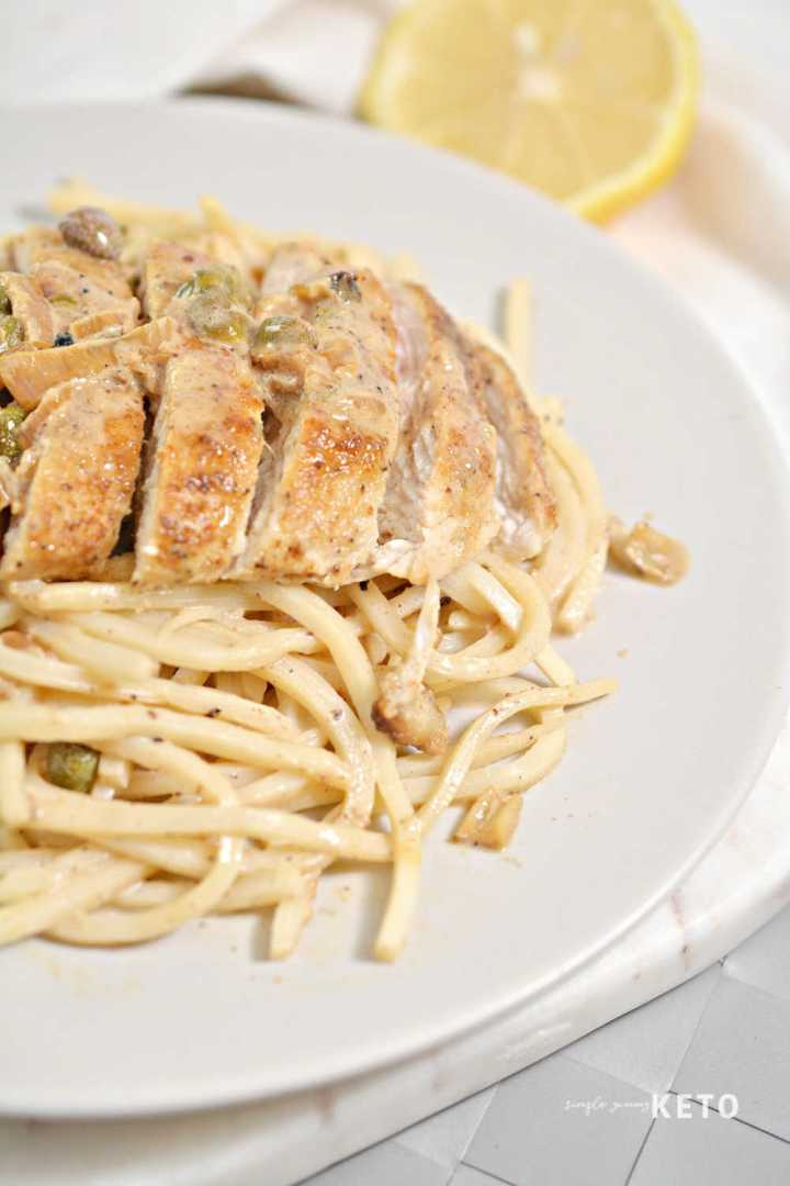 keto chicken piccata low carb recipe
