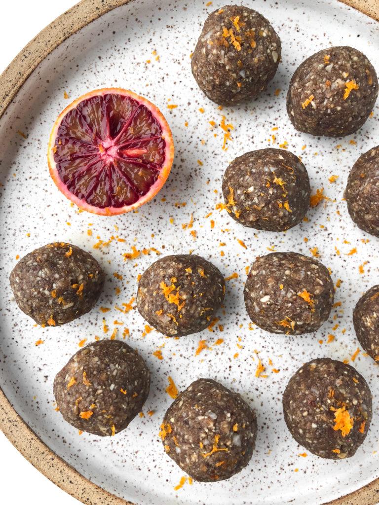 orange walnut balls - rachael's good eats -