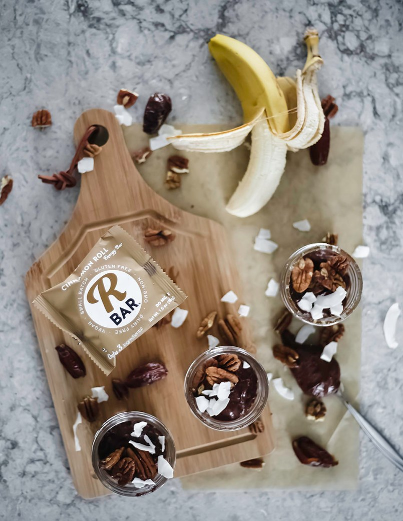 Don't walk away without trying this no bake chocolate banana pie!  It's filled with delicious wholesome ingredients and is free from any pesky refined sugar. I'd say you're in for a treat. Come find out!    #grainfree #soyfree #refinedsugarfree #healthydesserts