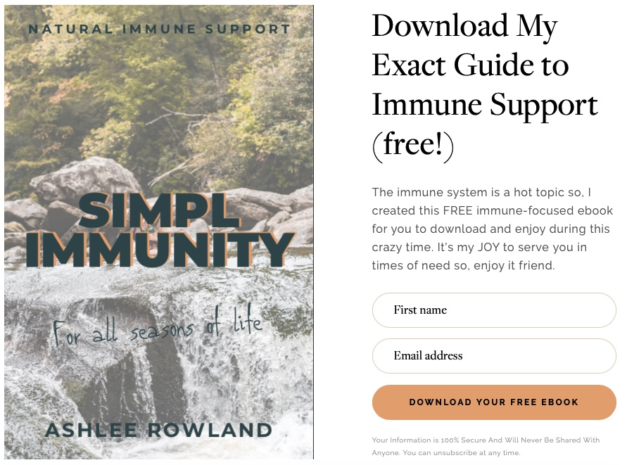 Free Immune Boosting Ebook with Immune Supportive Tips