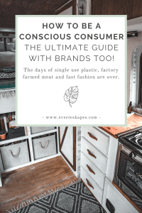 How to Be a conscious consumer with brands and resources to support