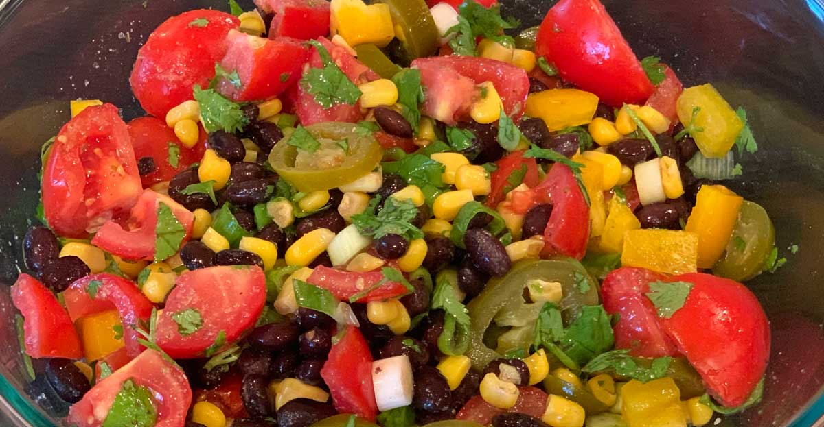 Read more about the article Black Bean and Corn Salad with Halibut