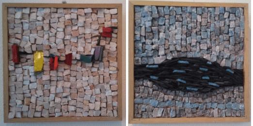initatie mozaiek: werken met marmer en smalti