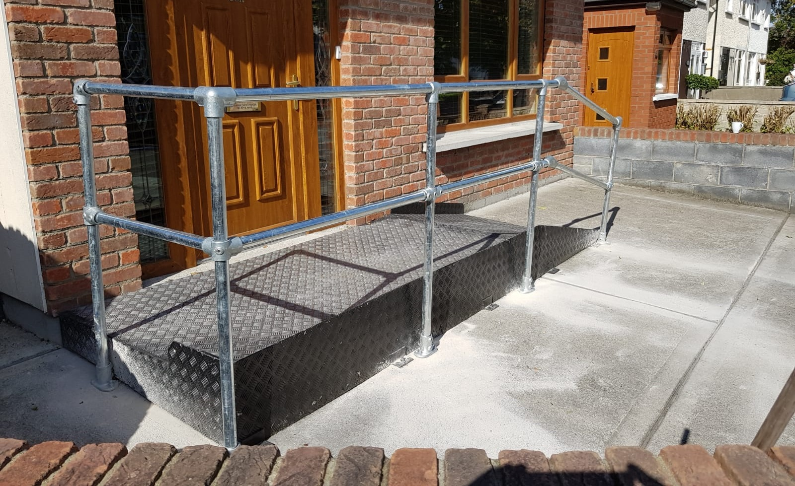 Ramp Safety Barrier Wheelchair Access Simplified Building